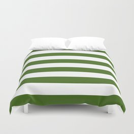 Simply Stripes in Jungle Green Duvet Cover