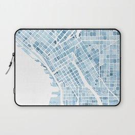 Map Seattle Washington Blueprint watercolor map Laptop Sleeve