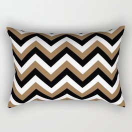 Brown White and Black Chevrons Rectangular Pillow