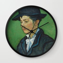 Portrait of Armand Roulin by Vincent van Gogh Wall Clock