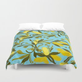 Melaleca blue & yellow textured Duvet Cover