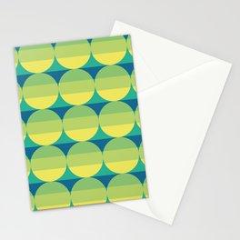 green cascade Stationery Cards