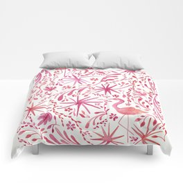 Flamingos at the Beach Comforters