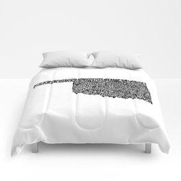 Typographic Oklahoma Comforters