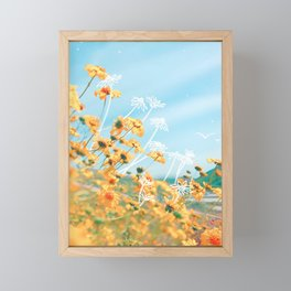 Yellow Dandelion Field Framed Mini Art Print