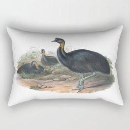 Northern Cassowary, tropical bird in the nature of New Guinea Rectangular Pillow