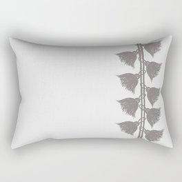 Tassels On The Right - Gray - Serie Boho Rectangular Pillow