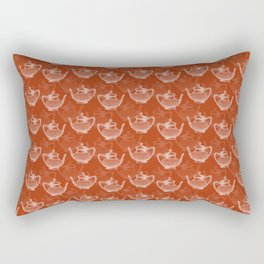 Vintage Teapot Pattern Rectangular Pillow