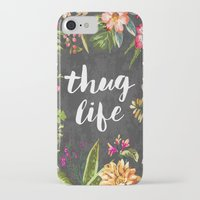 beach iPhone & iPod Cases featuring Thug Life by Text Guy