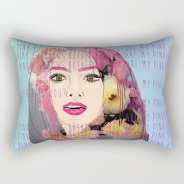 Are my pink eyebrows bothering you?  Rectangular Pillow