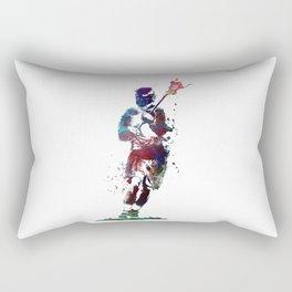 Lacrosse player art 2 Rectangular Pillow