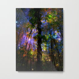 Forest of the Fairies Night Metal Print