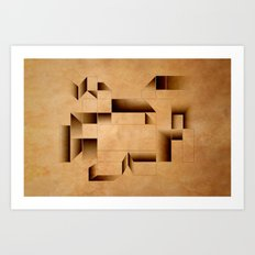 cubist invader. Art Print