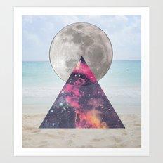 cosmic beach Art Print