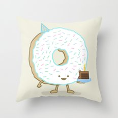 The Birthday Party Donut Throw Pillow