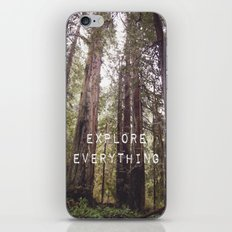 EXPLORE EVERYTHING in the REDWOOD FOREST  iPhone & iPod Skin