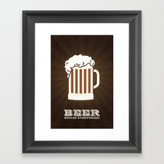 BEER solves everything Framed Art Print