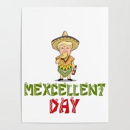 Mexcellent Day - Donald Trump - Cinco De Mayo Poster