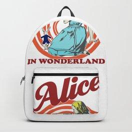 Alice In Wonderland, Follow The White Rabbit T Shirt, Original Gift Idea Backpack