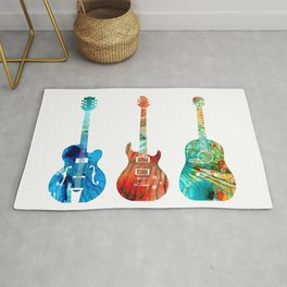 Abstract Guitars by Sharon Cummings Rug