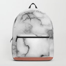 Marble & copper Backpack