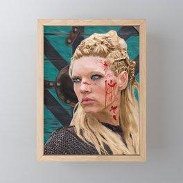 Lagatha Shield Maiden Painting Framed Mini Art Print