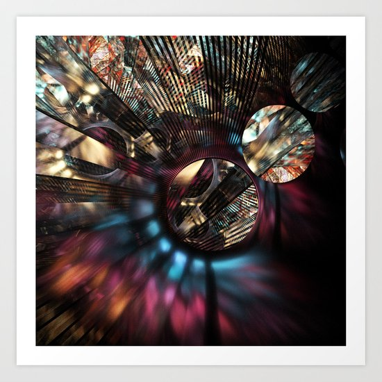 Voltage in Circles and Lines Art Print