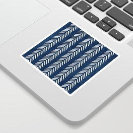 Mud cloth - Navy Arrowheads Sticker