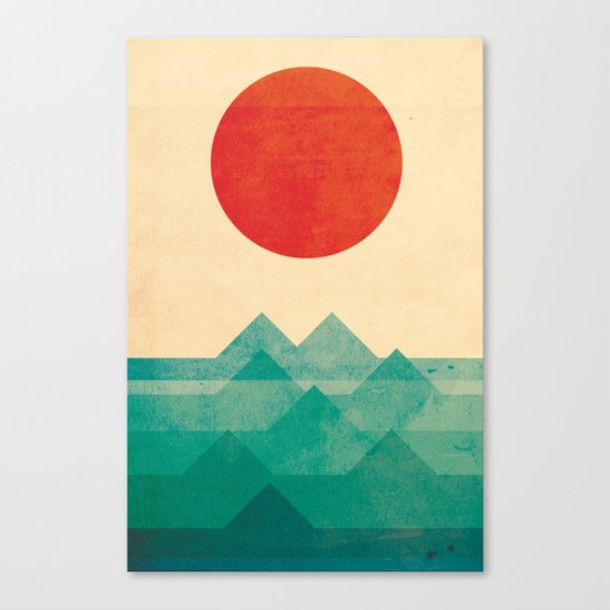 The ocean, the sea, the wave Canvas Print