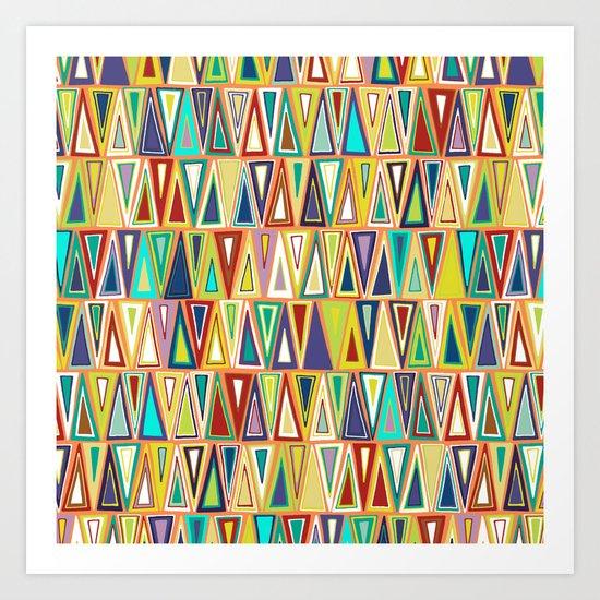 tangerine triangles Art Print