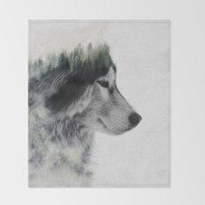 Wolf Stare Throw Blanket