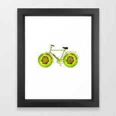 Kiwi Bike Framed Art Print