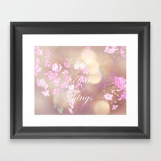 Stuff and Things Framed Art Print