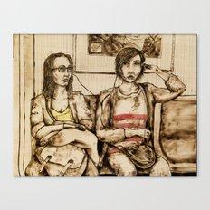 Sharing Canvas Print