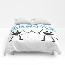 Marshmallow High Five Comforters
