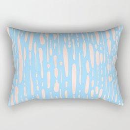 Sweet Life Ice Melt Stripes Peach Coral Pink + Blue Raspberry Rectangular Pillow