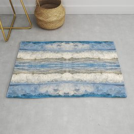 Abstract Waves splashing off the Queensland coast, Australia kaleidoscope Rug