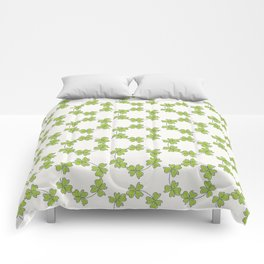 four-leaf clover leaves pattern Comforters