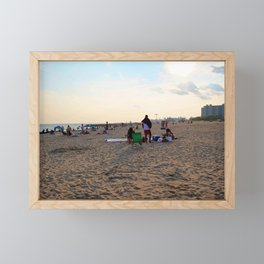 Beach Day Framed Mini Art Print
