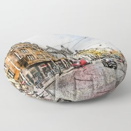 Praha city art #praha #prague Floor Pillow