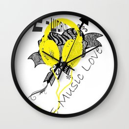 E-World (E-Music Love) Wall Clock