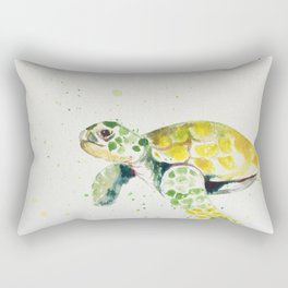 turtle watercolor art Rectangular Pillow