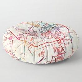 Tupelo map Mississippi MS Floor Pillow