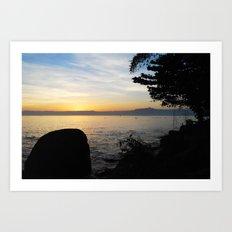 Jungle Sunset Art Print