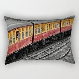 Waiting For A Train Rectangular Pillow