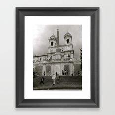 The Spanish Steps Framed Art Print