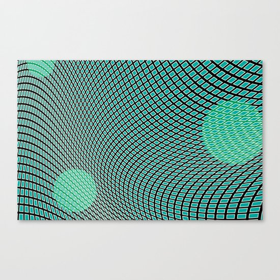 mod-century grid Canvas Print