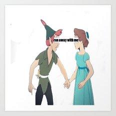 run away with me  Art Print