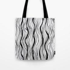 BLACK STRIPES Tote Bag