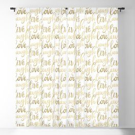 Live Laugh Love II Blackout Curtain